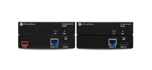 Atlona 4K/UHD 70m HDBaseT TX/RX with IR/RS232 Control and PoE (AT-UHD-EX-70C-KIT)