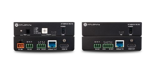 Atlona 4K HDR Transmitter and Receiver Set w/IR, RS-232, and PoE (AT-HDR-EX-70C-KIT)