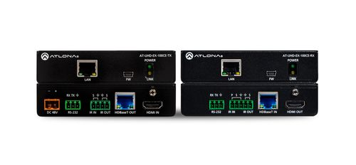 Atlona 4K/UHD 100m HDBaseT TX/RX with Ethernet, Control and PoE (AT-UHD-EX-100CE-KIT)