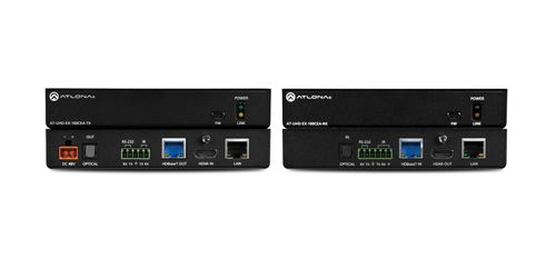 Atlona 4K/UHD 100m HDBaseT TX/RX with Ethernet, Control and PoE, and Return Optical Audio (AT-UHD-EX-100CEA-KIT)