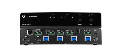 Atlona 4K/UHD 4-Output HDMI to HDBaseT Distribution Amplifier. 70 meter. Leveres uden modtagere. (AT-UHD-CAT-4)