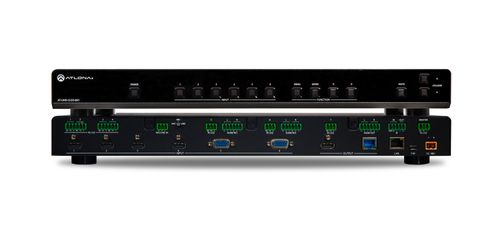 Atlona 4K/UHD, 6-Input Multi-Format Switcher with Mirrored HDMI and HDBaseT Outputs, PoE and Auto-Switching (AT-UHD-CLSO-601)