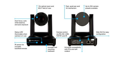 Atlona Switcher/ Extender Kit for USB/HDMI Teleconference Systems (AT-UHD-HDVS-300-KIT)