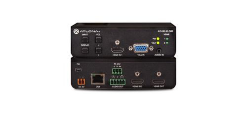 Atlona VGA TO HDMI CONVERTER/ SCALER/ SWITCHER. WITH HDMI INPUT. AUDIOCONTROL. RS232 (AT-HD-SC-500)
