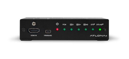 Atlona 4K/UHD HDMI Multi-Channel to Two-Channel Audio Converter (AT-HD-M2C-B-stock)