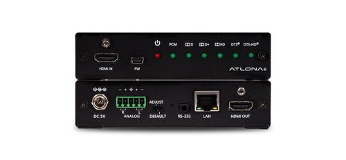 Atlona 4K/UHD HDMI Multi-Channel to Two-Channel Balanced Audio Converter (AT-UHD-M2C-BAL-B-stock)