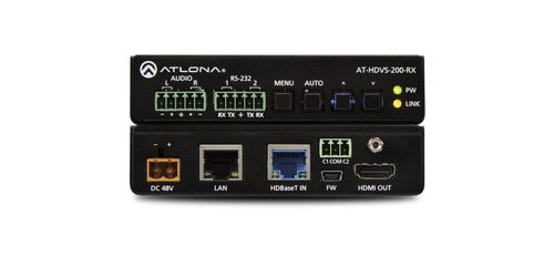 Atlona - HDBaseT to HDMI Receiver w/ Scaler, Ethernet, RS232, and IR (100 m) (AT-HDVS-200-RX-B-stock)