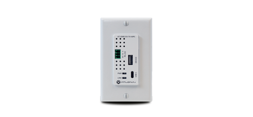 Atlona Omega single gang wall plate with USB-C Input and USB data support (AT-OME-EX-TX-WPC)
