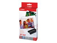 CANON KP-36IP Photo Paper 100x148mm 36sheet + color ink for Selphy CP Postcard Size (7737A001)