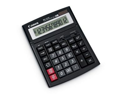 CANON WS-1210T calculator several functions bendable LCD IT-Touch-keyboard solar- and battery-operated (0694B001)