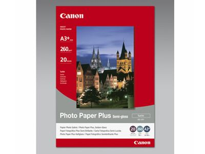 CANON SG-201 semi glossy photo paper inkjet 260g/m2 A3+ 20 sheets 1-pack (1686B032)