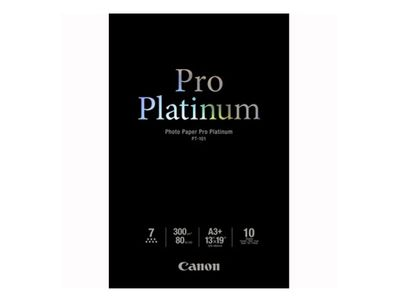 CANON PT-101 pro platinum photo paper 300g/m2 A3+ 10 sheets 1-pack (2768B018)