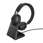 JABRA Evolve2 65 - USB-A MS Teams Stereo with Charging Stand - Black