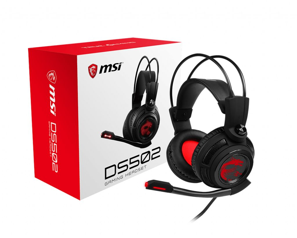 MSI GAMING Headset DS502 Svart | Billig