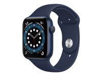 APPLE Watch Series 6 GPS, 44mm Blue Aluminium Case with Deep Navy Sport Band (M00J3KS/A)