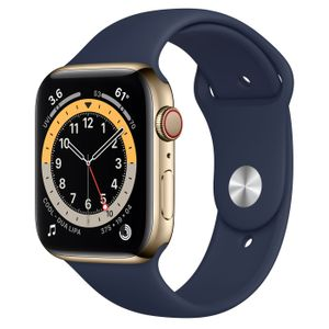 APPLE APPLEWATCH SERIES6 GPS+CELLULAR 44MM GOLD STAINLESS DEEP NAVY SB ACCS (MJXN3KS/A)