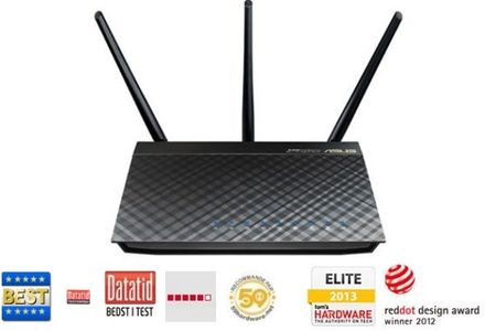 ASUS Asus - RT-AC66U Dual-Band Wireless 1.75Gbps Router (90IG0300-BU2000)