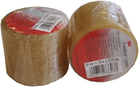3M Temflex 1500T eltape 50mm×10mtr transparent (1500T50)