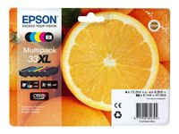 EPSON 33XL Multipack non-tagged - Claria Premium Ink Orange (C13T33574011)