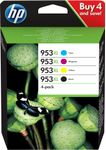 HP No953XL High Yield C/M/Y/K Ink Cartridge Blistered (3HZ52AE#301)