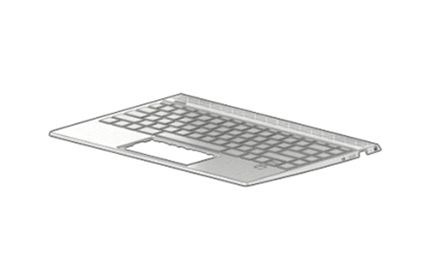 HP TOP COVER W KB BL NSV PORT (L53415-131)
