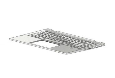 HP TOP COVER W KB NSV BL HE (L96519-BB1)