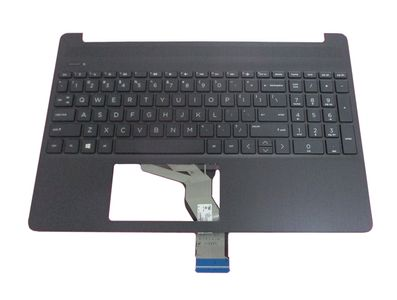 HP TOP COVER W KB AHS BL PORT (L63577-131)
