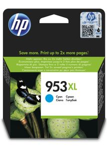 HP No953XL cyan ink cartridge (F6U16AE)