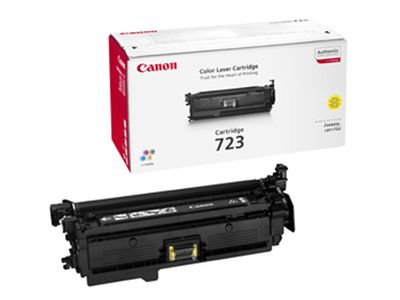 CANON COLOR CARTRIDGE 723 , Toner Gul 8500 sider (2641B002)