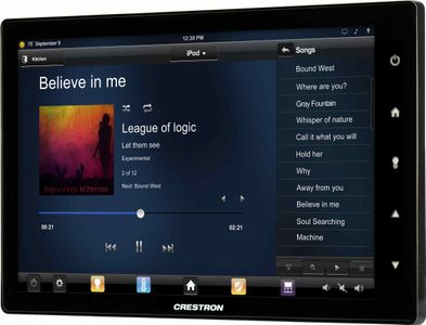 """Crestron 10.1"""" Touch Screen, Black Smooth (TSW-1050-B-S)"""