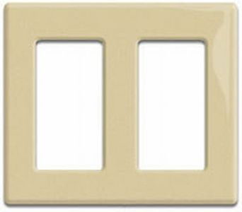 Crestron Dual gang Decorator Style faceplate,  Smooth White (FPL-G2-W-S)