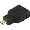 DELTACO HDMI High Speed with Ethernet adapter, Micro HDMI ha - HDMI hu (HDMI-24)