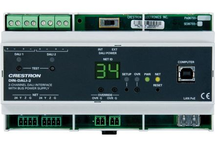 Crestron DIN Rail 2 Channel DALI Interface (DIN-DALI-2)