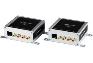 Crestron AUD-EXT-100 - CAT5 audio extenders for unbalanced stereo and S/PDIF audio signals. (AUD-EXT-100)