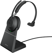 JABRA Evolve2 65 - USB-A MS Teams Mono with Charging Stand - Black