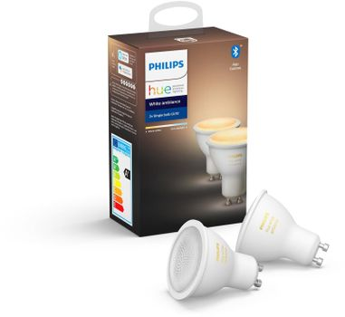 Philips Hue WA 6W GU10 2-Pack White Ambiance (929001953303)