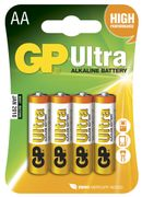 GP Ultra LR6 AA 1.5V batteri 4 stk