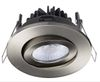 BA Exclusive Anti Glare 8W LED Downlight børstet stål (BA1-FX6084)