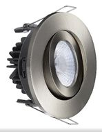 Exclusive Anti Glare 8W LED Downlight børstet stål