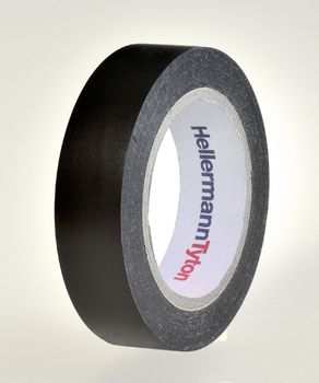 HellermannTyton Tape 15mmx10m sort (1stk)