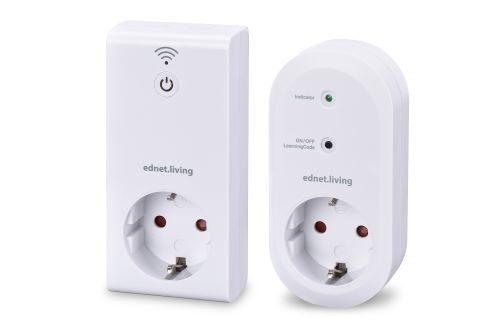 EDNET Living Power Starter Kit 1 sentralenhet og 1 smart-stikkontakt 230V, 16A