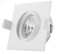 TUNDRA 9W Warmdim (2800-2000K) IP44 Square Hvit