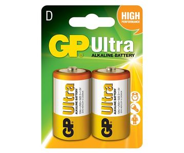 GP Batteri Alkalisk Type D LR20, 1,5V, 2-pack (151024)