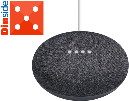 Google Home Mini smarthøyttaler - Kull (EU versjon), demobrukt (HOME-MINI-CHARCOAL-Demo)