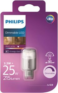 Philips 2,5W LED-pære G9 Dimbar (9983183)