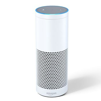 Amazon Echo Plus smarthøyttaler - White Med ZigBee-hub (ECHO-PLUS-WHITE)