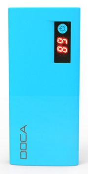 DOCA 13.000mAh USB-C Power Bank Blå, Qualcomm Quick Charge 3.0 (D566BC-BLUE)