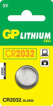 GP CR2032 Lithium, 3V (2184-CR2032)