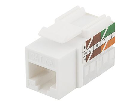 Deltaco Cat6A Keystone jack termination plastic white (MD-124)