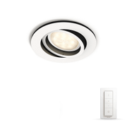 Philips Hue Milliskin Rund Downlight 5,5W Hvit m/dimmer